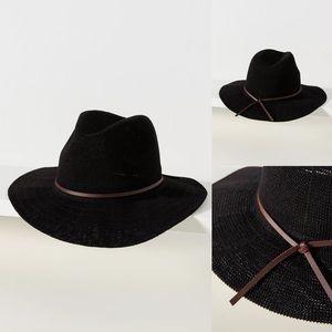 """Anthropologie Mesh Fedora Hat 23.5"""" crown; 3"""" brim"""